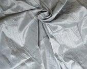 Silk Dupioni in Grey,Fat quarter, D - 296