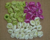 CLEARANCE/DISCONTINUED - Silk Ranunculus Bud Flowers - Assorted Colors - Set of 40 +
