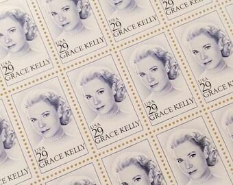 Unused set of 10 Grace Kelly postage stamps
