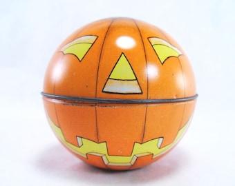 Jack O Lantern Halloween Tin Midwest of Cannon Falls Vintage 80s