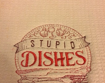 Stupid dishes drying mat