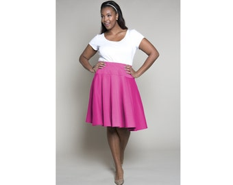 Dropped Waist Skirt Ponte 2 Lengths Sizes 2-28