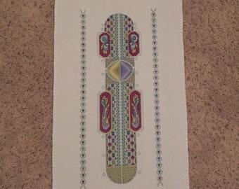 Celtic Newton Column Cross-Stitched Picture
