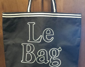 Le Bag Large Black and White Tote