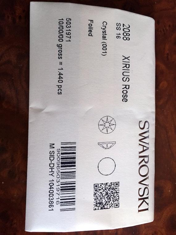Sealed Swarovski Factory Pack SS16 2088 2028 2058 Swarovski Crystal Flatback Rhinestone Clear 1440p Foil Back Scrapbooking, diy, Bling Bling