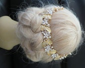 Headbands Rhinestone Hair Jewelry Crystal Gold Plated  Natural Freshwater Pearl  Bridal Decorative Combs headpieces wedding hair accessories