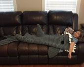 Shark Crochet Blanket