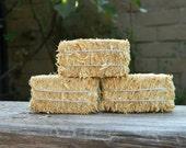 Hay Bale Miniature Straw Fairy Garden Accessories Halloween Miniatures Fall Miniattures DIY Craft Projects