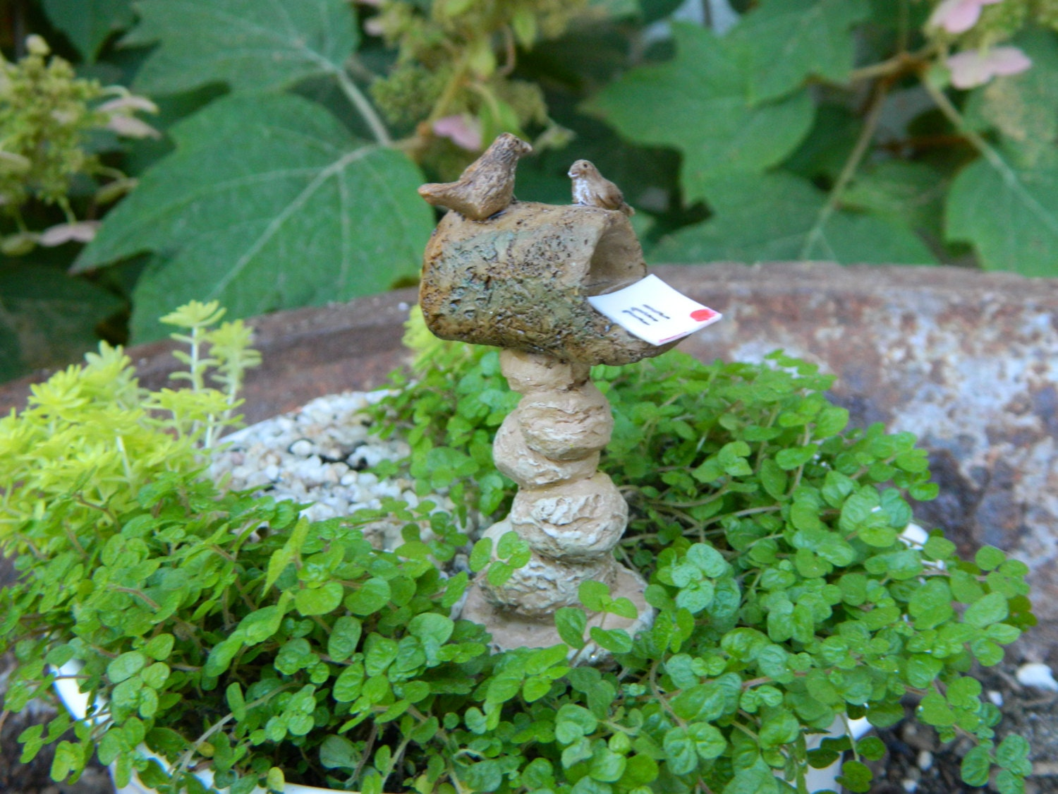 Fairy garden mailbox for miniature garden terrarium or for Little fairy mailbox