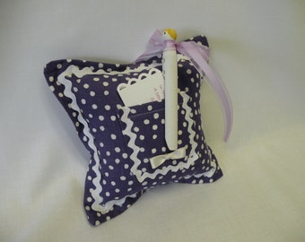 Sweet Purple Dotted Tooth Fairy Pillow and Clothespin Doll Tooth Fairy - Gift for Girls