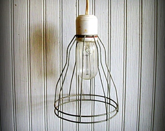 Vintage Safety Cage Lamp Pendant Lamp