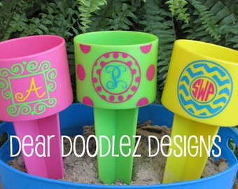 Personalized Monogrammed Beach Spiker Drink Holder - multi colors