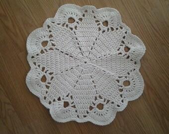 Crochet cotton Cat mat.