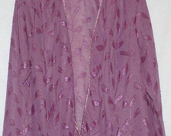 Vintage lilac semi-sheer evening jacket