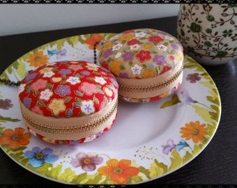 6cm macaroons, Colourful Cherry Blossoms - Red Or Green