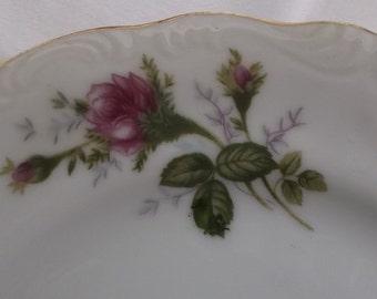 Vintage Plates, Salad Plates, Sandwich Plates, Dessert Plates, Moss Rose, Japan, 4 Pieces