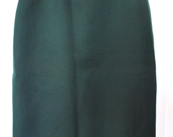 SALE Vintage Emerald Green Mid-Lenght Pencil Skirt