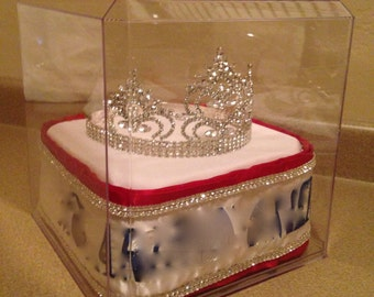 Custom Large Display Case for Crown & Sash
