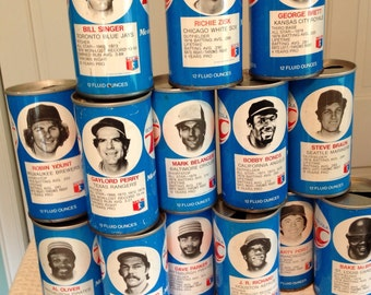 RC Cola Sports Cans, 70's baseball cans