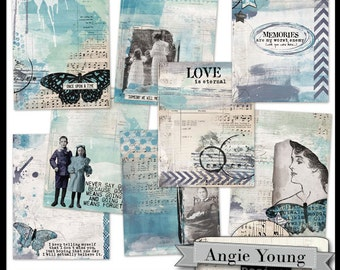 Journal It Papers Set #5 - Digital Art Supplies By Angie Young