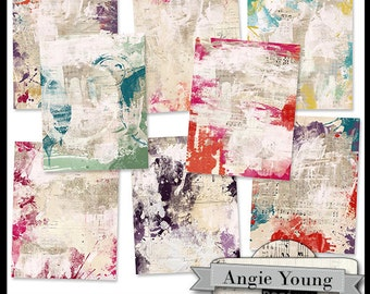 Journal It Papers Set #22 - Digital Art Supplies By Angie Young