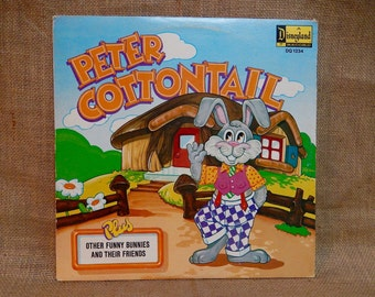 Walt Disney presents - Peter Cottontail - 1972 Vintage Vinyl Gatefold Record Album..Includes Full-Color Illustrated Book