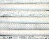 Modern Background Paper Whites Fat Quarter Bundle of 7 by Brigitte Heitland of Zen Chic for Moda