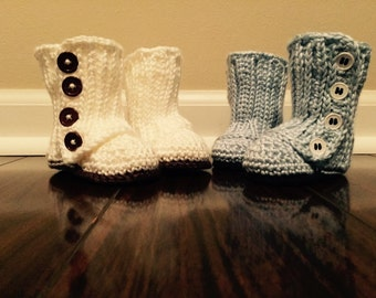 Baby Boots Furry Loop Boots Crochet Boots Tan By