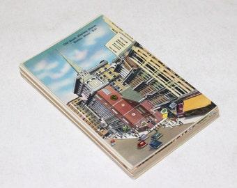 25 Vintage Boston Postcards Blank - Wedding Guestbook
