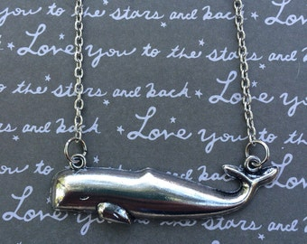 Gorgeous whale charm necklace