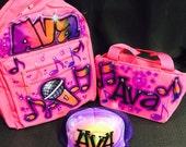 Custom Airbrush Backpack & Lunch Tote Set