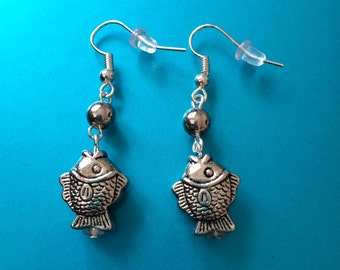 Only ONE! Turkish Silver Fish earrings