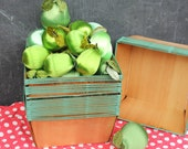 Vintage Wood and Metal Berry or Fruit Baskets for Storage or Display, LARGER, ONE Basket, New, Old Stock
