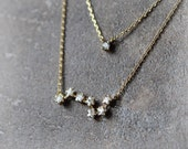 Big Dipper layered necklace/ choose your color, gold, silver