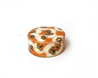 Vintage 1930s Coty Paris Powder puff box, Rachel No. 2, art deco