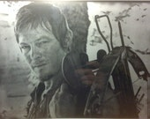 The Walking Dead Daryl Dixon Norman Reedus Glass Etching #1