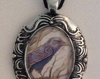 Celtic Raven Pendant