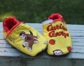 Curious George Shoes Baby / Toddler Leather Slipper Shoes Warm Baby Slippers
