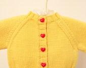 Baby Sweater, Yellow Baby Sweater, Baby Shower Gift, Infant Sweater, Newborn Sweater