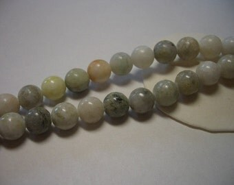 Natural Jasper beads, round, 8mm beads, white, natural gemstone beads, full strand, light green, tan, black, 8mm gemstone beads, Jasper