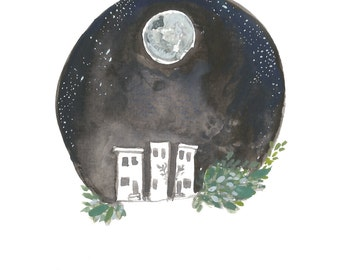 Moon Over Brewerytown 5x7