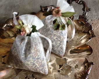 Mini Lavender Sachets French Provencial Miniature Floral Hand Crafted Handcrafted Bags ~ #2862-1