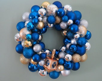 MADE to ORDER HANUKKAH Wreath -Ornament Wreath - Design Your Hanukkah Wreath