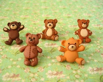 Little Bear Thumbtack, Bear Push Pin, Bear Animal Notice Board Pins, Cute Bears Animal, Bears Push Pins