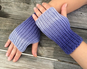 Fingerless gloves, Knit Gloves, Hand Warmers, Wrist Warmers, Texting Gloves, Ombre