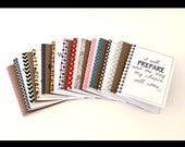 Kraft notebook personalized journal, diary, sketchbook, custom size, front and washi edge, gift for friends, coworkers, college students