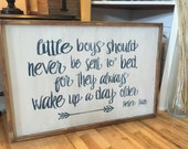 Little boys should never be sent to bed for they always wake up a day older, Peter Pan, on sale for 100.00