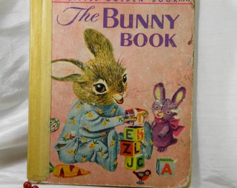 1955 The Bunny Book  Children's Book - Illustrations by Richard Scary