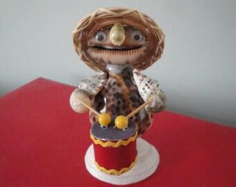 Sea Shell Seashell Musician Drummer Figurine