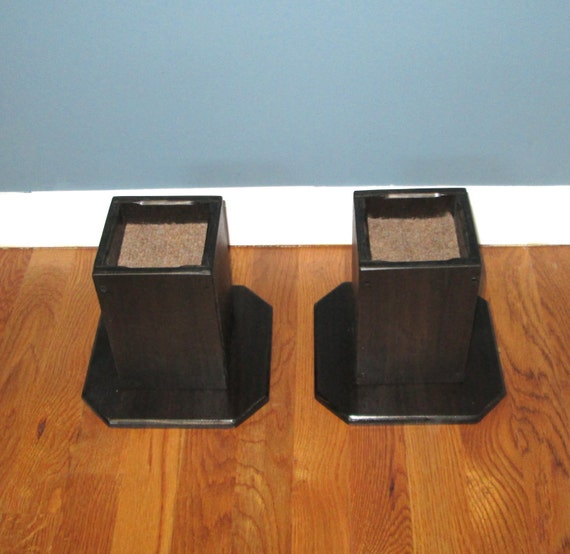 Furniture Risers 6 Inch All Wood Construction Walnut With